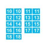 GolfFlags Golffahnen, nummeriert, hellblau
