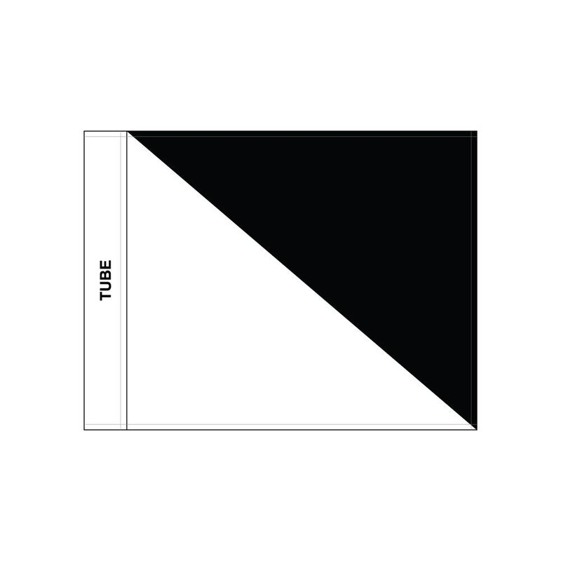 GolfFlags Golf flag, semaphore, white - black
