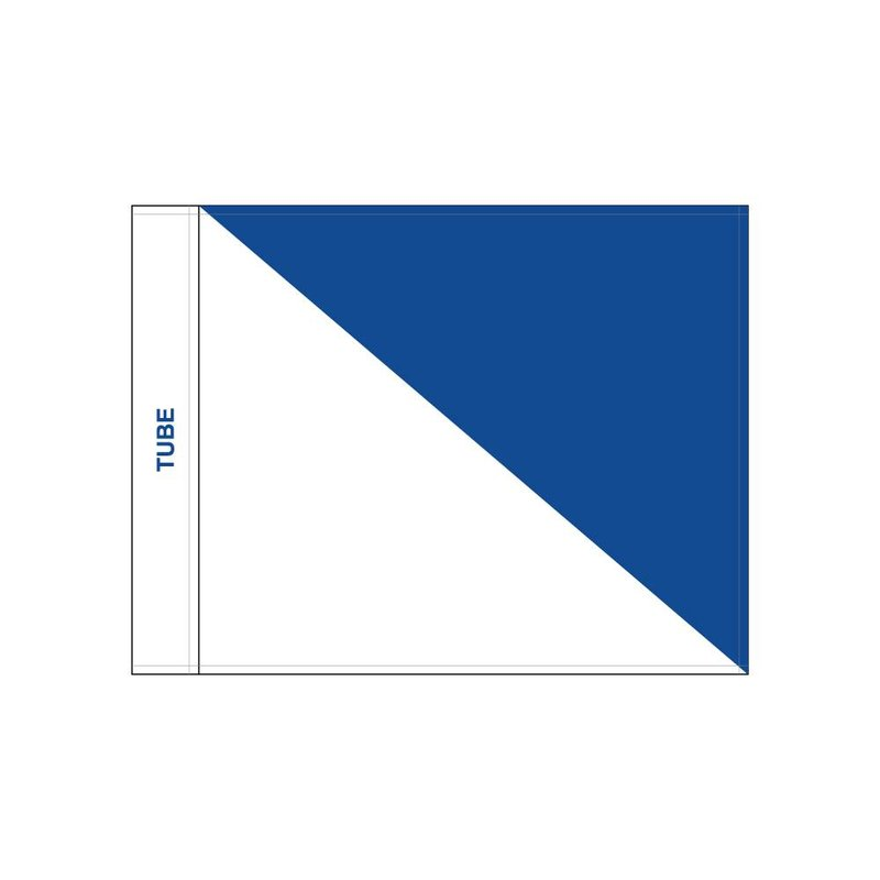 Golfvlag, semaphore, wit - blauw