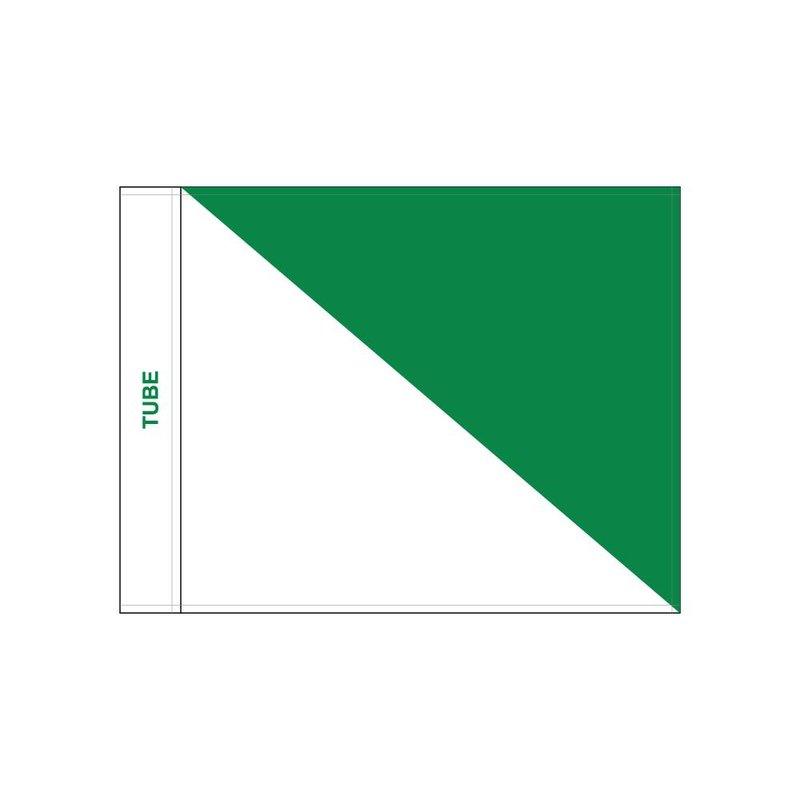 GolfFlags Golffahnen, semaphore, weiss - grün