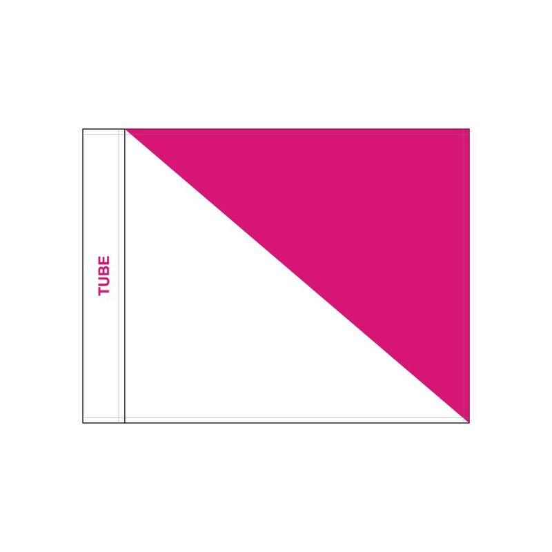 GolfFlags Golfvlag, semaphore, wit - roze