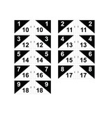 GolfFlags Golf flag, semaphore, numbered, white - black
