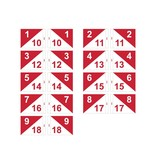 GolfFlags Golf flag, semaphore, numbered, white - red