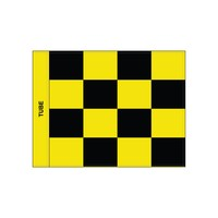 Golf flag, checkered, black - yellow