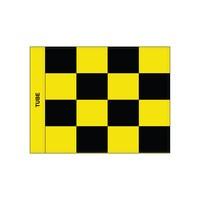 GolfFlags Golffahne, karriert, schwarz - gelb