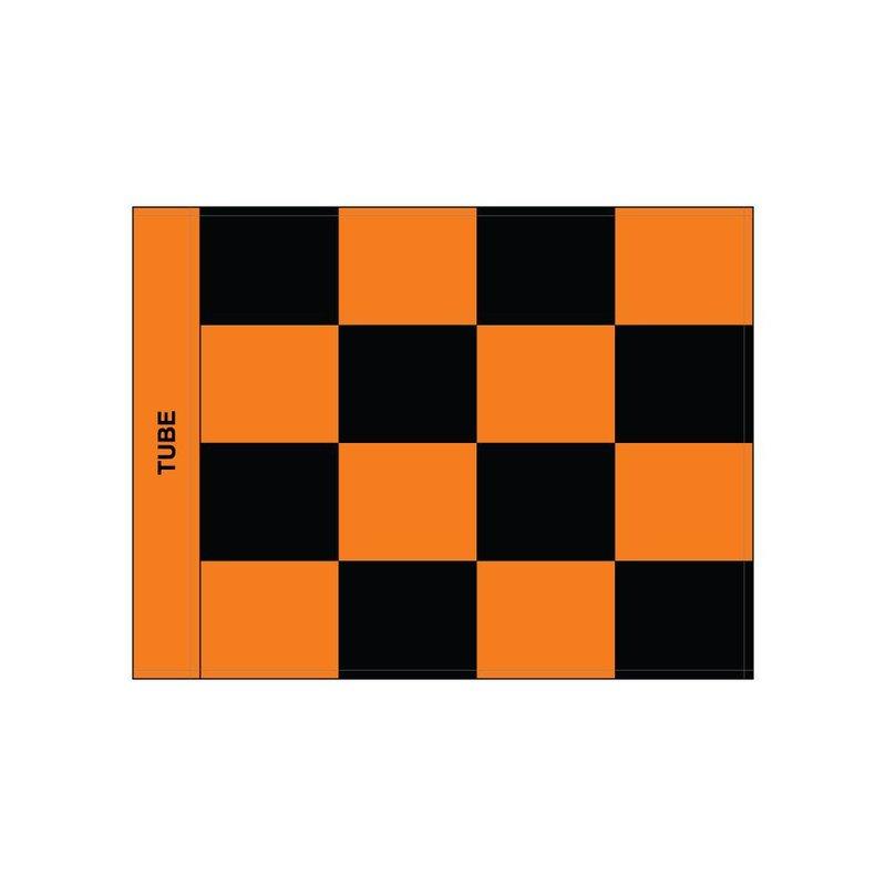 Golf flag, checkered, black - orange