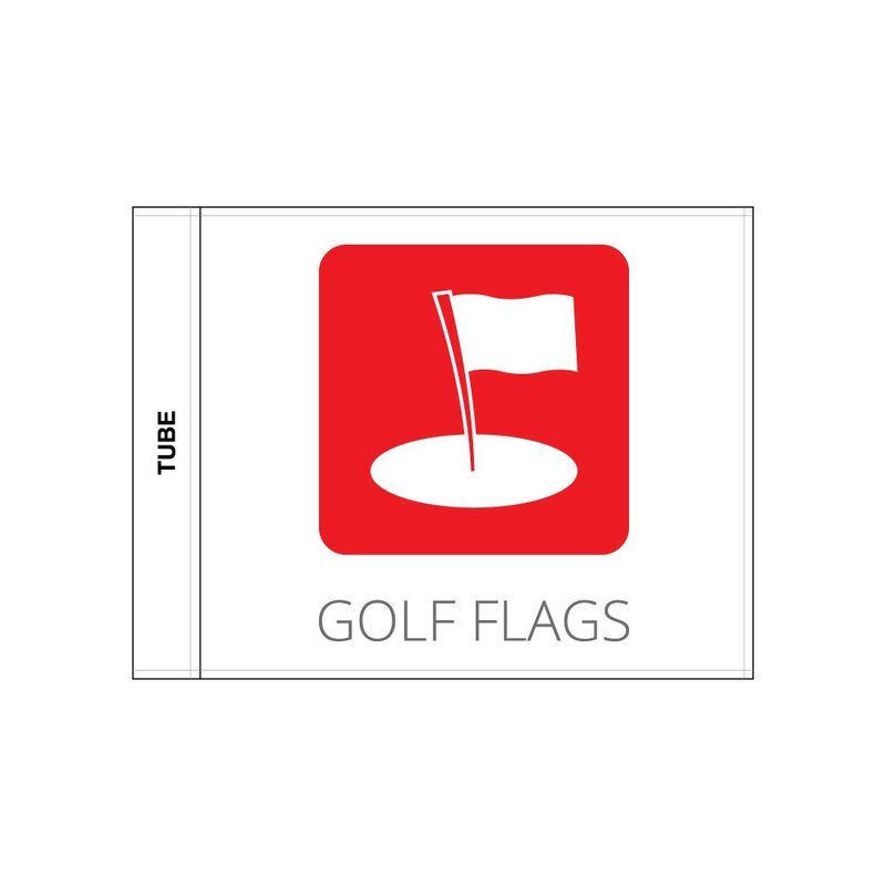 Golf flag, logo printed