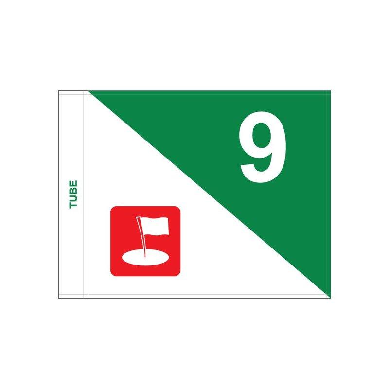 GolfFlags Golf flag, semaphore with logo