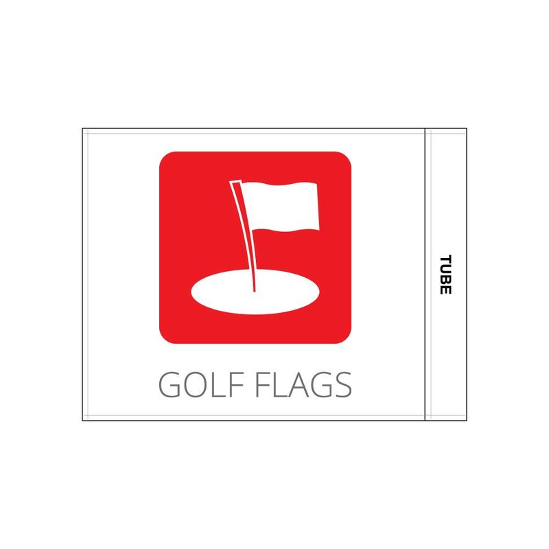 GolfFlags Golf flag, printed logo