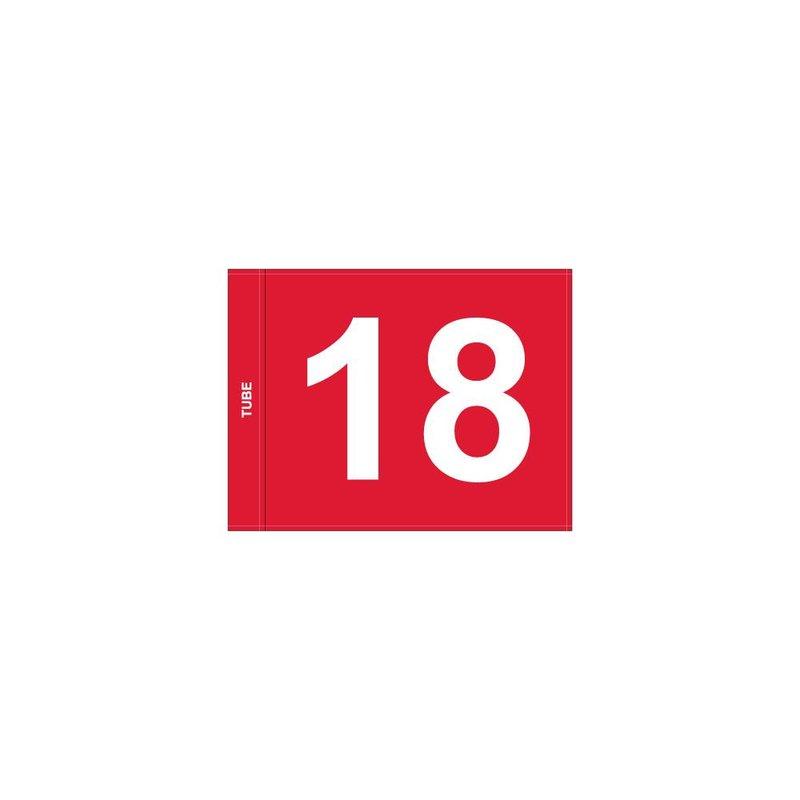 GolfFlags Putting Green Fahne, nummeriert, rot