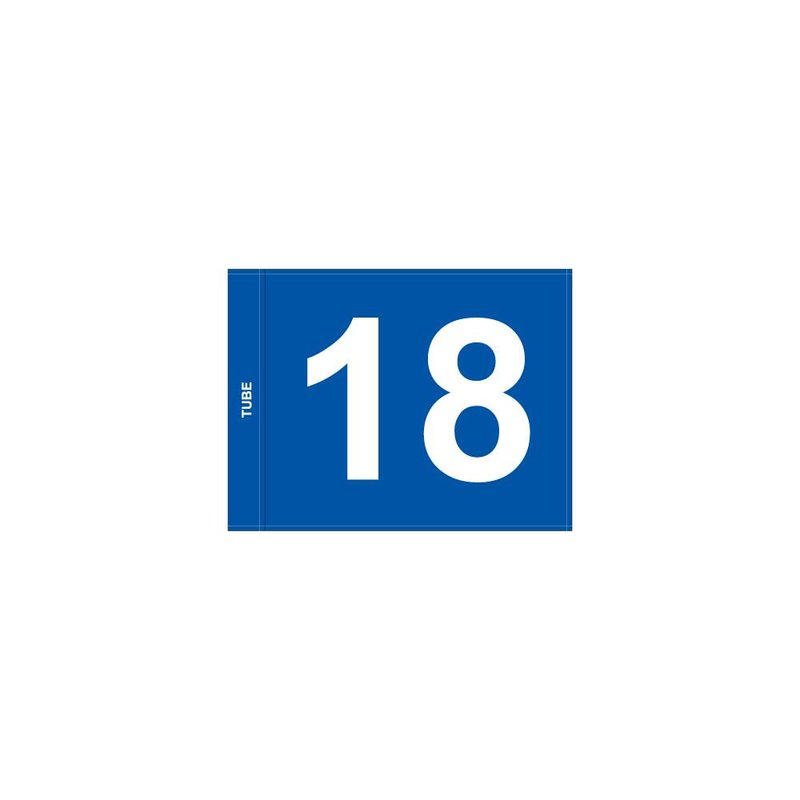 Putting green flag, numbered, blue
