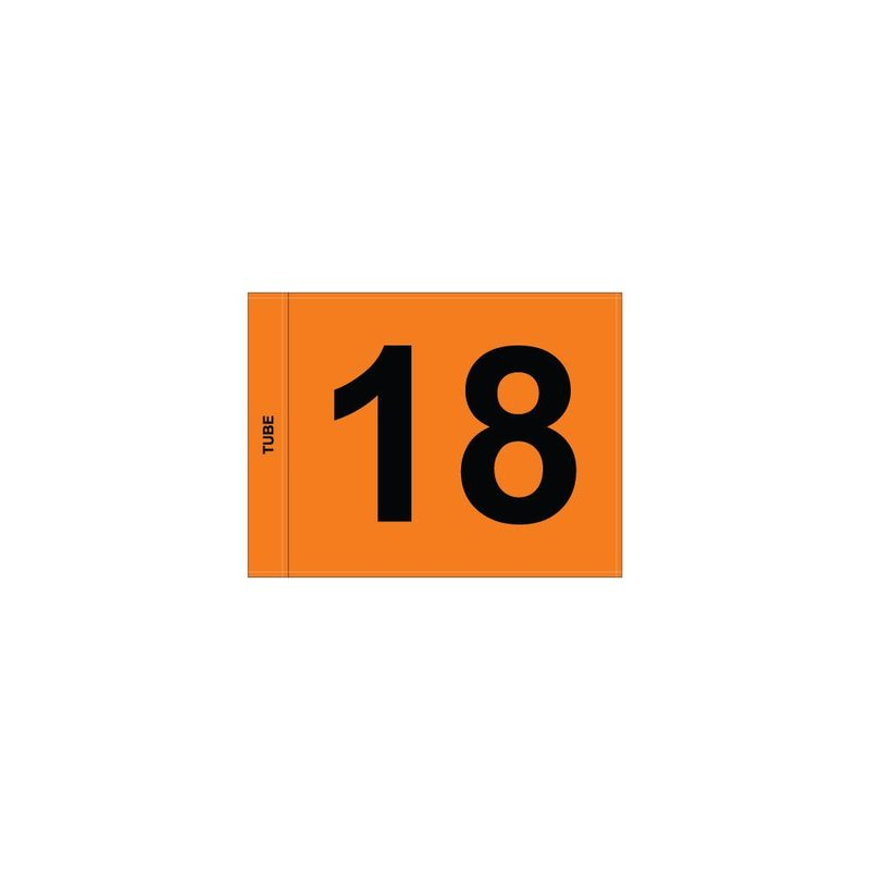 GolfFlags Putting Green Fahne, nummeriert, orange