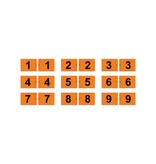 GolfFlags Putting green flag, numbered, orange