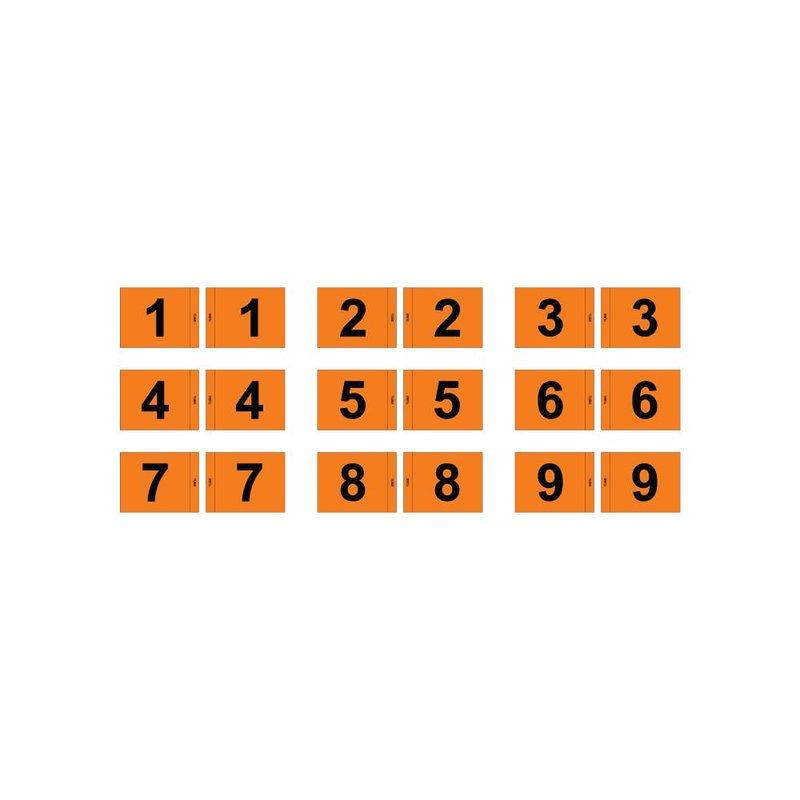 Putting green flag, numbered, orange
