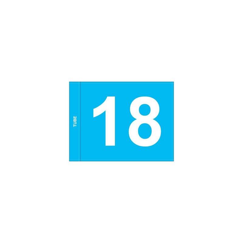 GolfFlags Putting Fahnen, nummeriert, hellblau