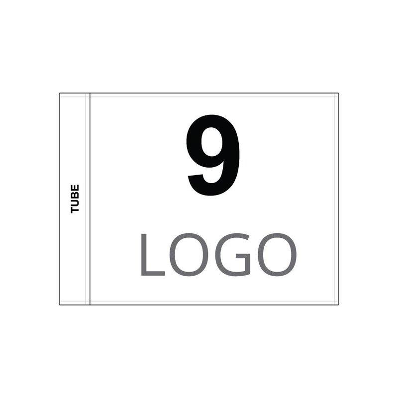 GolfFlags Golfvlag, genummerd met logo