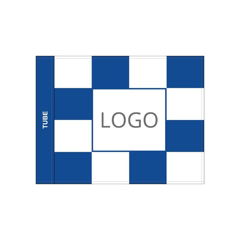 Golffahne, karriert mit Logo