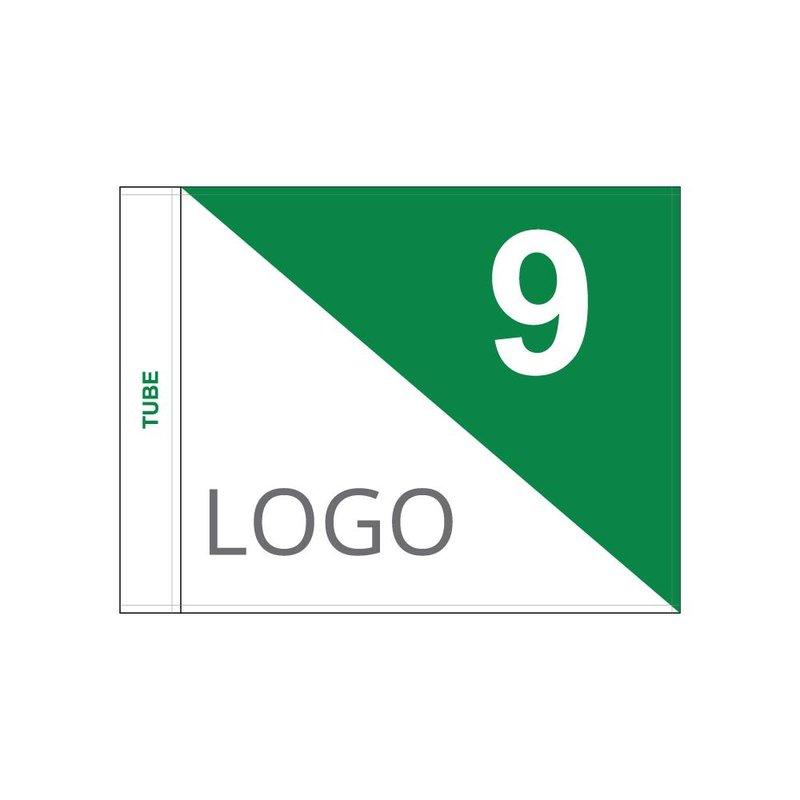 Golf flag, semaphore with logo