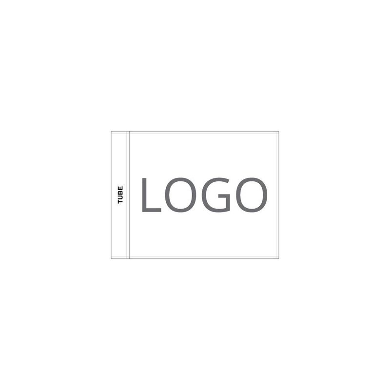 Putting green flag, printed logo