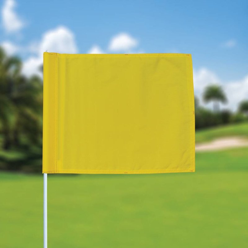 GolfFlags Golffahne, uni, gelb