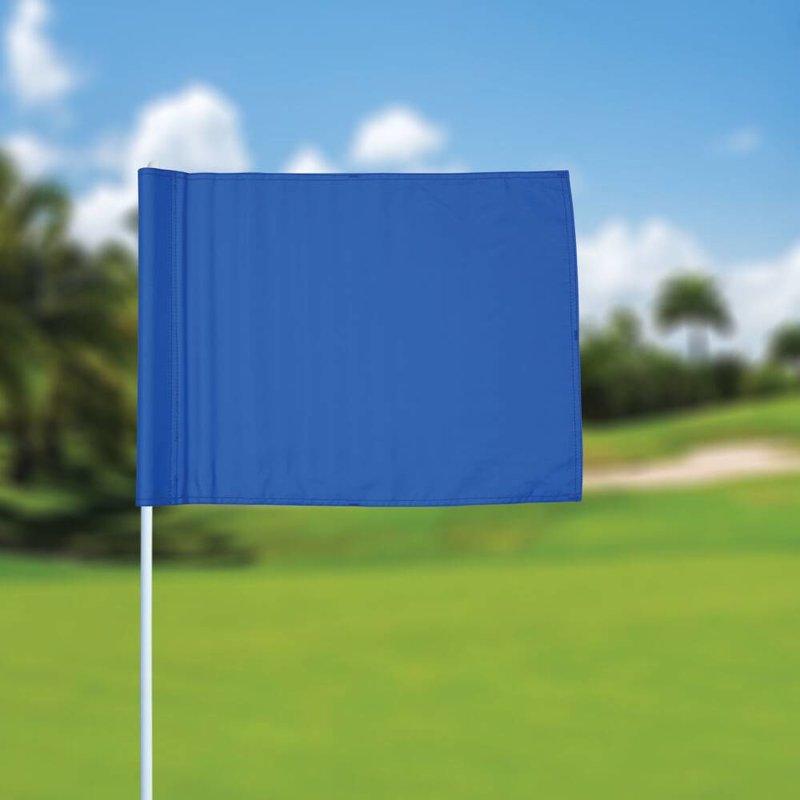 Golfvlag, effen, blauw