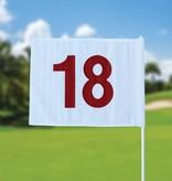 GolfFlags Golfvlag, genummerd, wit
