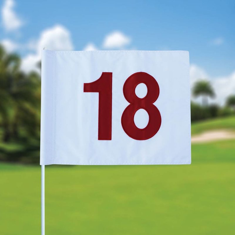 GolfFlags Golf flag, numbered, white