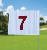 GolfFlags Golffahnen, nummeriert, weiß