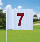 Golfvlag, genummerd, wit