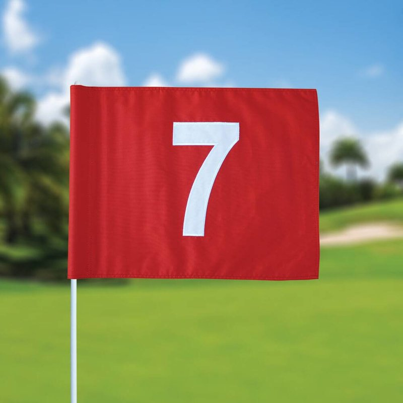 Golf flag, numbered