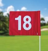 GolfFlags Golffahnen, nummeriert, rot