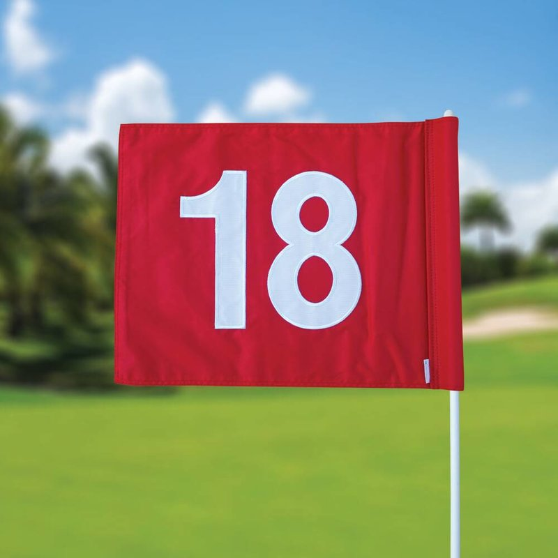 GolfFlags Golf flag, numbered, red