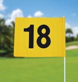 GolfFlags Golffahnen, nummeriert, gelb