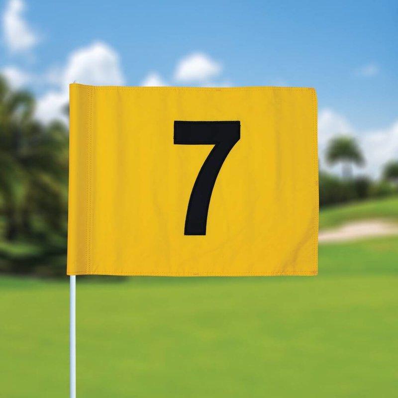 Golfvlag, genummerd, geel