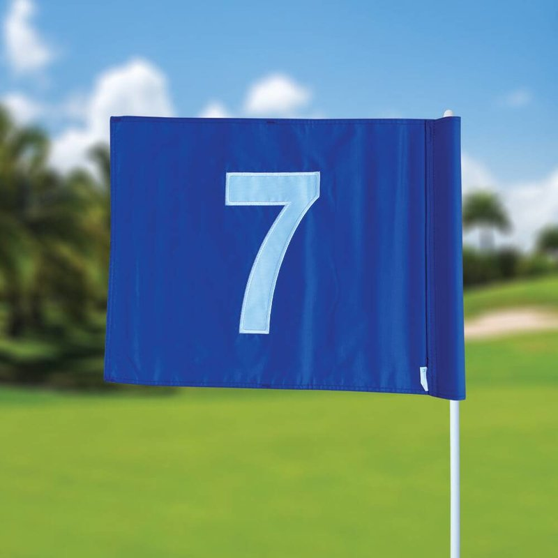 GolfFlags Golf flag, numbered, blue