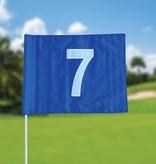 GolfFlags Golffahnen, nummeriert, blau