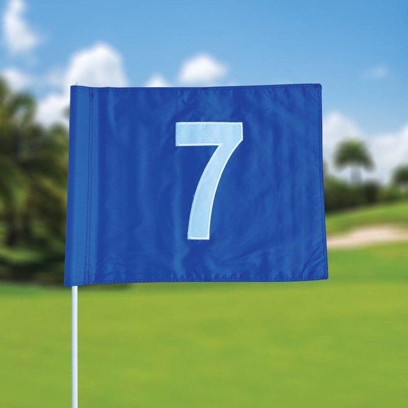 GolfFlags Golfvlag, genummerd, blauw