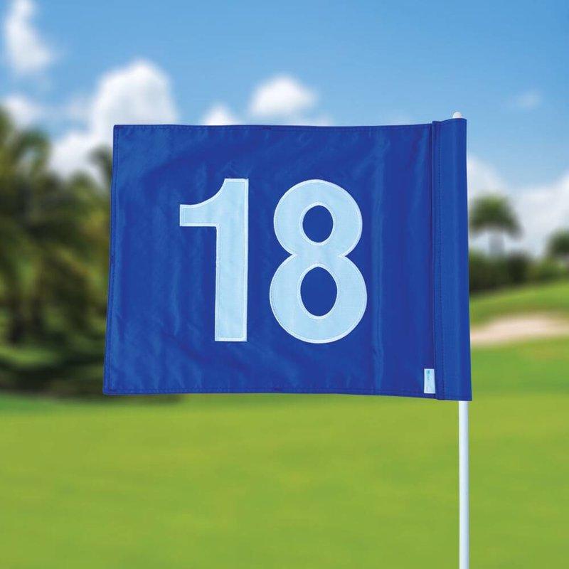 Golfvlag, genummerd, blauw