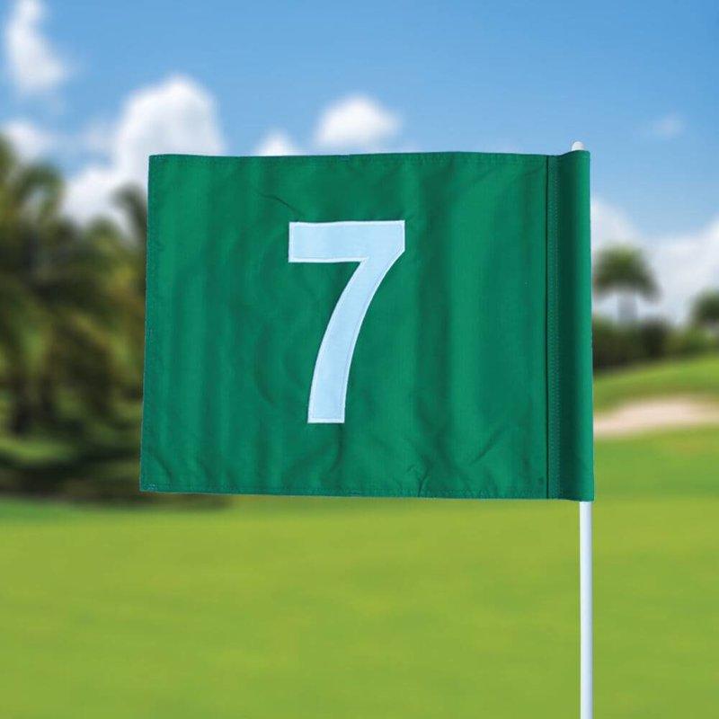 GolfFlags Golffahnen, nummeriert, grün