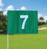 GolfFlags Golf flag, numbered, green