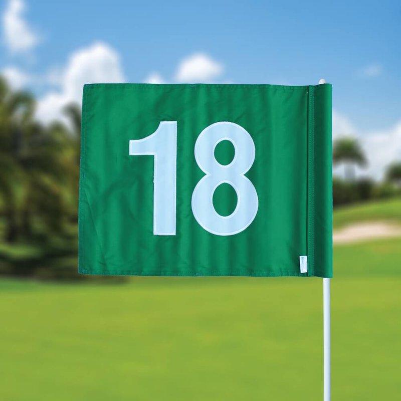 Golffahnen, nummeriert, grün