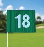 Golfvlag, genummerd, groen