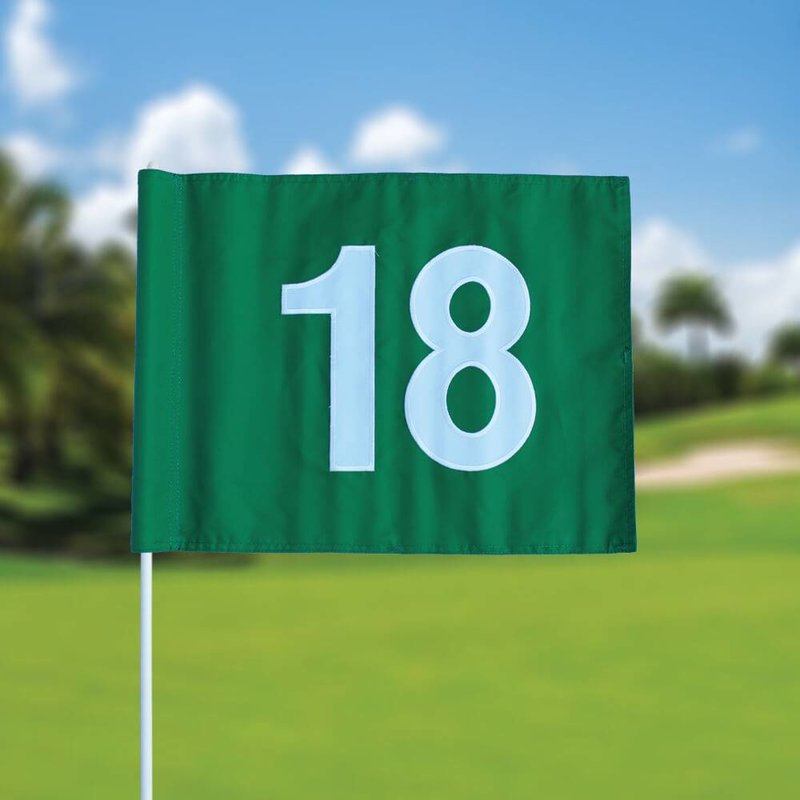 Golf flag, numbered, green