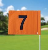 GolfFlags Golf flag, numbered, orange