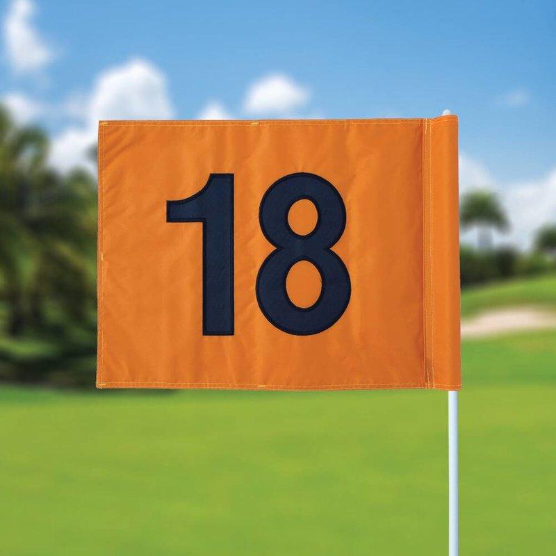 Golfvlag, genummerd, oranje