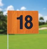 GolfFlags Golfvlag, genummerd, oranje