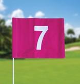 GolfFlags Golfvlag, genummerd, roze