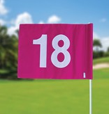 GolfFlags Golf flag, numbered, pink