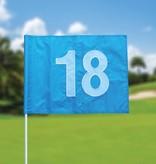 GolfFlags Golf flag, numbered, light blue