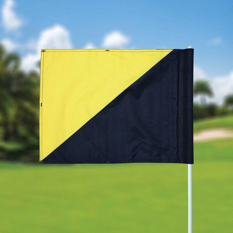 GolfFlags Golf flag, semaphore, black - yellow